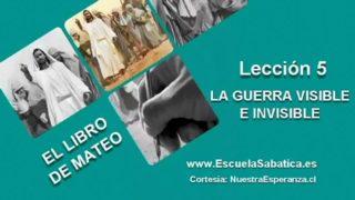 """Lección 5   Martes 26 de abril 2016   La """"Cosmovisión bélica""""   Escuela Sabática"""