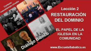 """Diálogo Bíblico   Jueves 7 de julio 2016   Restauración del """"Dominio""""   Escuela Sabática"""