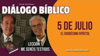 Diálogo Bíblico   Jueves 5 de julio 2018   El duodécimo apóstol   Escuela Sabática