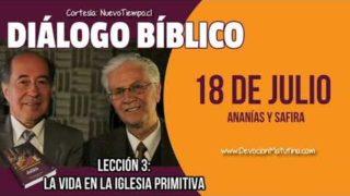 Diálogo Bíblico   Miércoles 18 de julio del 2018   Ananías y Safira   Escuela Sabática