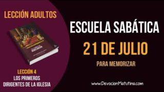 Escuela Sabática | Sábado 21 de julio del 2018 | Para memorizar