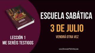 Lección 1 | Martes 3 de julio 2018 | Vendrá otra vez | Escuela Sabática