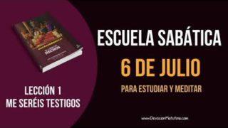 Lección 1 | Viernes 6 de julio 2018 | Para estudiar y meditar | Escuela Sabática