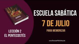 Lección 2 | Sábado 7 de julio del 2018 | Para memorizar | Escuela Sabática