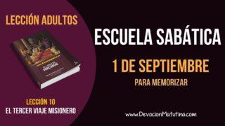 Escuela Sabática | Sábado 1 de septiembre 2018 | Para memorizar | Lección Adultos