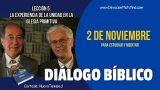 Diálogo Bíblico | Viernes 2 de noviembre 2018 | Para estudiar y meditar | Escuela Sabática
