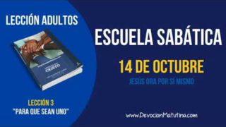 Escuela Sabática | Domingo 14 de octubre 2018 | Jesús ora por sí mismo | Lección Adultos