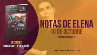 Notas de Elena | Miércoles 10 de octubre 2018 | Cisma en Corinto | Escuela Sabática