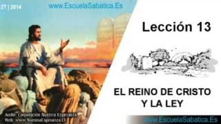 Lección 13   Jueves 26 de junio 2014   La Ley en el Reino   Escuela Sabática