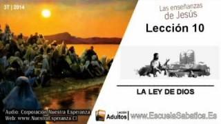 Lección 10 | Lunes 1 de septiembre 2014 | Jesús profundizó el significado de la Ley