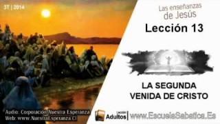 Lección 13 | Sábado 20 de septiembre 2014 | Para memorizar | Escuela Sabática