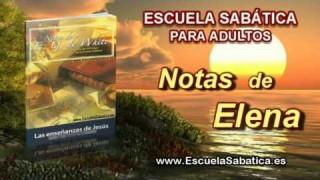 Notas de Elena | Jueves 4 de septiembre 2014 | Jesús y la esencia de la ley.