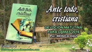 Sábado 26 de marzo 2016 | Devoción Matutina para Mujeres 2016 | Compromiso cristiano con una sociedad no cristiana