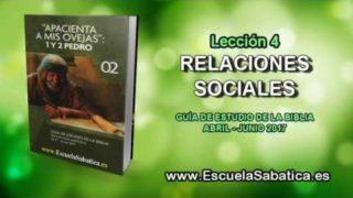 Lección 4   Miércoles 19 de abril 2017   Relaciones sociales   Escuela Sabática