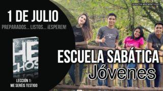 Escuela Sabática Jóvenes   Domingo 1 de julio del 2018   Preparados… listos… ¡esperen!