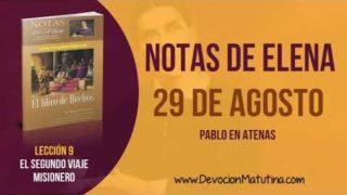 Notas de Elena | Miércoles 29 de agosto del 2018 | Pablo en Atenas | Escuela Sabática
