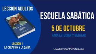 Escuela Sabática | Viernes 5 de octubre 2018 | Para estudiar y meditar | Lección adultos