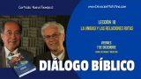 Diálogo Bíblico | Viernes 7 de diciembre 2018 | Para estudiar y meditar | Escuela Sabática